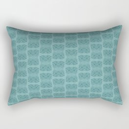 Arabidopsis thaliana (thale cress) leaf vein microscopy pattern teal Rectangular Pillow