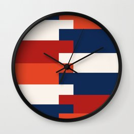 Minimalist Abstract colored stripes  Wall Clock