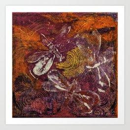 Dragonfly Dance #2 Art Print
