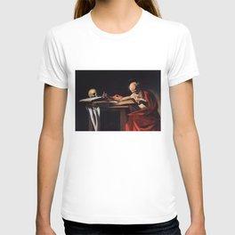 Saint Jerome Writing by Caravaggio (1606) T-shirt