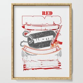 I Wear Red on Fridays For My Deployed DAUGHTER USA Tshirt Serving Tray