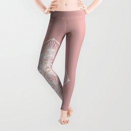 Pink Pastel Mandala Leggings