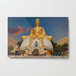 Golden Buddha Tang Sai Temple Thailand Metal Print