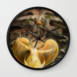 """William Blake """"The Great Red Dragon and the Woman Clothed with the Sun"""" Wall Clock"""