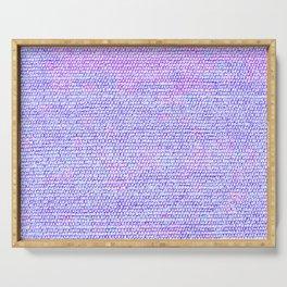 Purple Pink Elegant Flat Weave Rug Texture Serving Tray