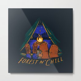 Forest and Chill Metal Print