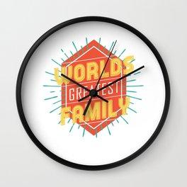 World's Greatest Family Wall Clock