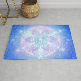 Light Frequency Mandala | Seed of Life Rug