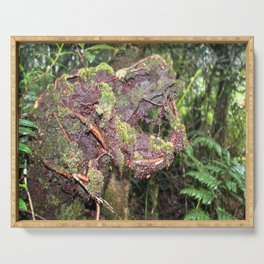 The CRY of Death - Tradewinds trail marvels on El Yunque rainforest PR Serving Tray