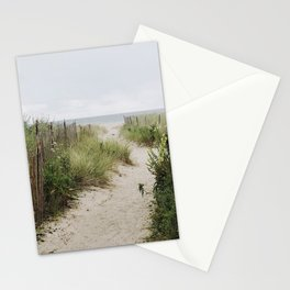 Overcast Beach Morning in Rhode Island Stationery Cards