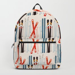 Retro Ski Illustration Backpack
