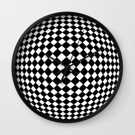 Tribute to Vasarely 10 Wall Clock