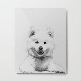 Minimalist Dog Metal Print