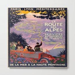 Vintage poster - Route des Alpes, France Metal Print