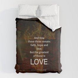 1 Corinthians 13:13 Bible Verses Quote About LOVE Comforters