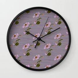 Cottage Flower Lilac & Grey Wall Clock