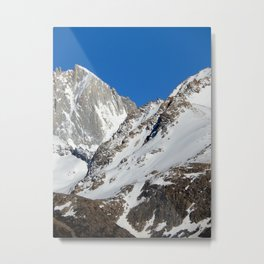 mountain covered in snow Metal Print