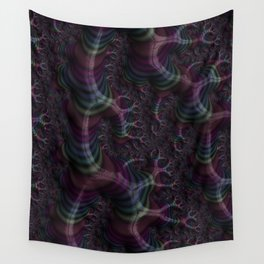 Branching Rainbow Fractal Wall Tapestry