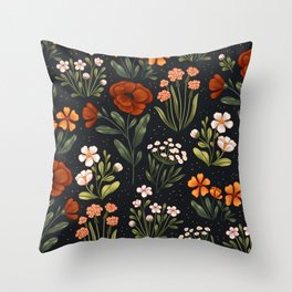 Wild Flowers ~ vol1. Throw Pillow
