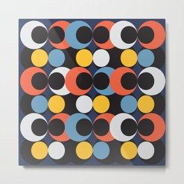 mutlicolor circle tile Metal Print