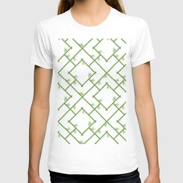 Bamboo Chinoiserie Lattice in White + Green T-shirt
