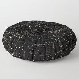 Constellations Map, Stars, Astronomy Cosmos Galaxy Floor Pillow