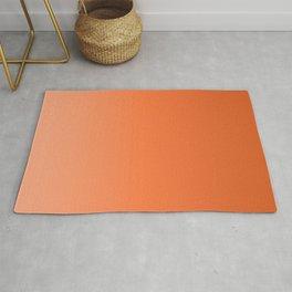 Sunny tangerine, gradient, Ombre. Rug