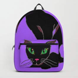 Kitty Carman with Purple Background Backpack