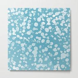 Aqua Bubbles Shower Art Metal Print