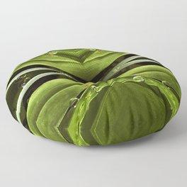 Dew Drop Jewels on Summer Green Grass Floor Pillow
