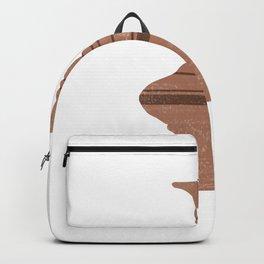 Minimal Abstract Greek Vase 12 - Loutrophoros - Terracotta Series - Modern, Contemporary Print - Tan Backpack