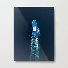 Fishing Trawler Top View | Aerial Photography  Metal Print