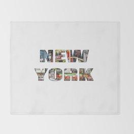 New York (typography) Throw Blanket