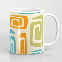 Mid Century Modern Cosmic Abstract 738 Orange Blue and Green Coffee Mug