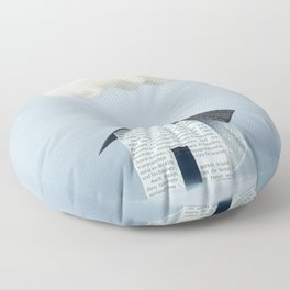 A cloud over the house Floor Pillow