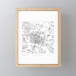 Glasgow Figure Ground Framed Mini Art Print