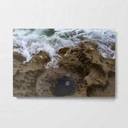 when water meets rock Metal Print