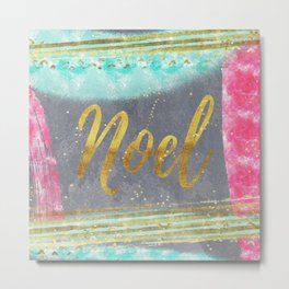 NOEL - Merry modern abstract christmas Metal Print