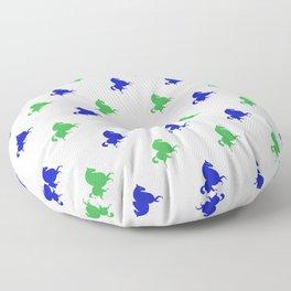 blue green horses pattern Floor Pillow