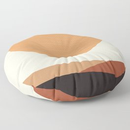 Sun and Mountains Floor Pillow