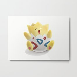 Watercolor Togepi Metal Print