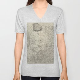 Artic Map / 1780 Unisex V-Neck