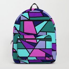 Galaxy Through Stained Glass Backpack