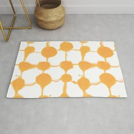 Connect Dots Yellow Rug