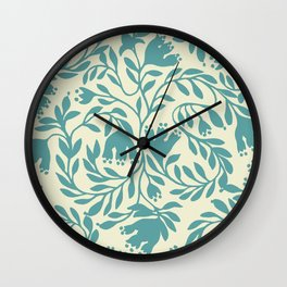 impression indienne blue turquoise. Wall Clock