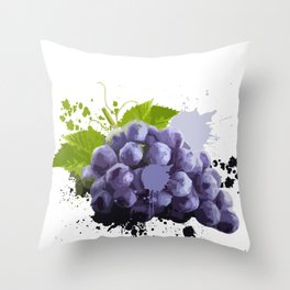 Grapes Fruit Healthy-food Plants Flower Sweet Gift Throw Pillow