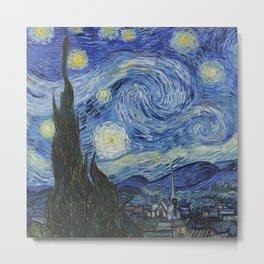 Fun Neck Gaiter Vincent Van Gogh The Starry Night Neck Gator Metal Print