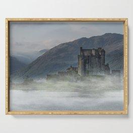 Eilean Donan Castle at dawn Serving Tray