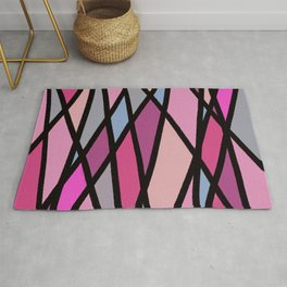 Pink Diagonals Rug