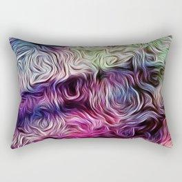 Fusion Of Pastel Rectangular Pillow